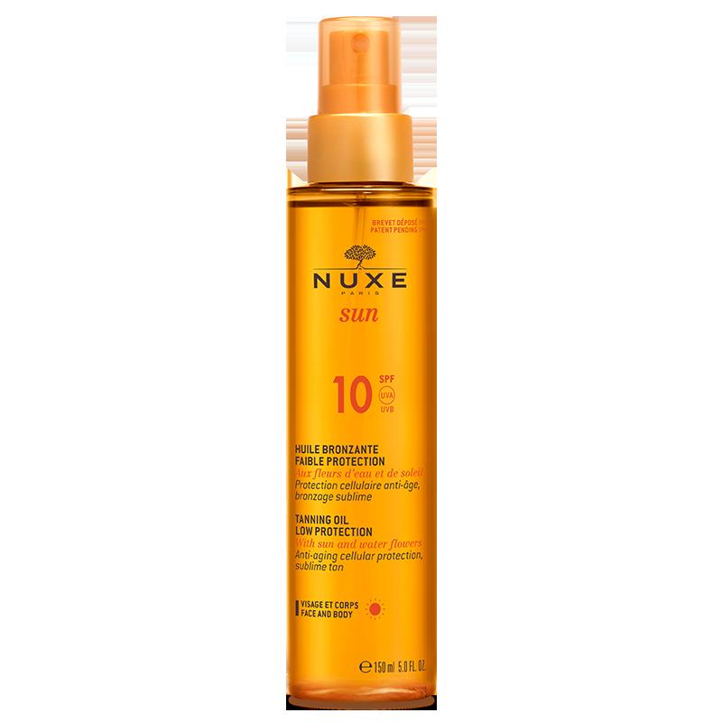 nuxe sun Huile bronzante faible protection spf10