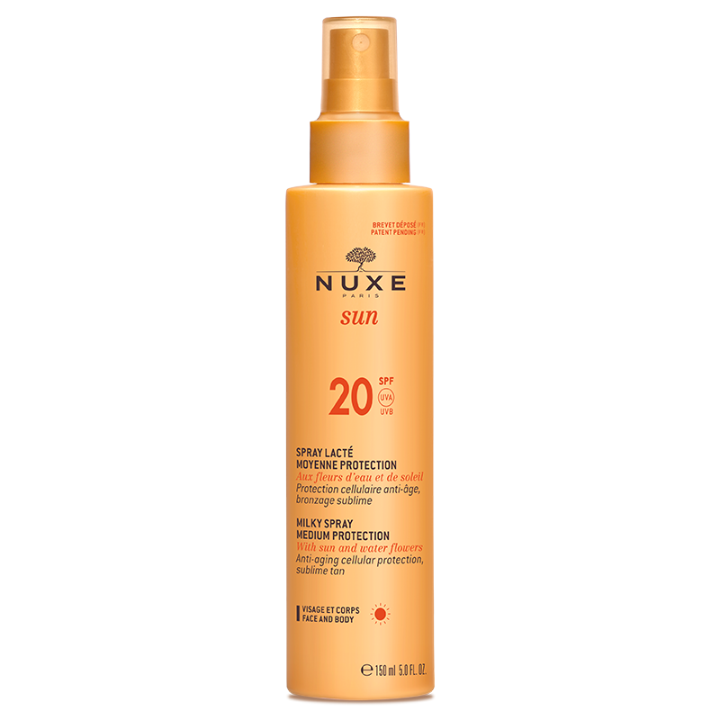 nuxe sun Spray lacté moyen protection spf20