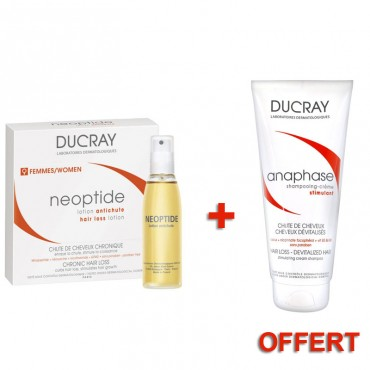 DUCRAY NEOPTIDE LOTION ANTI CHUTE FEMME 3*30ML   SHAMPOING ANAPHASE 250ML OFFERT