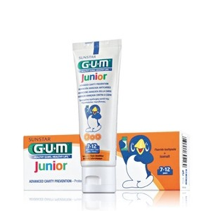 GUM DENTIFRICE JUNIOR GOÛT ORANGE 7-12 ANS 50 ML