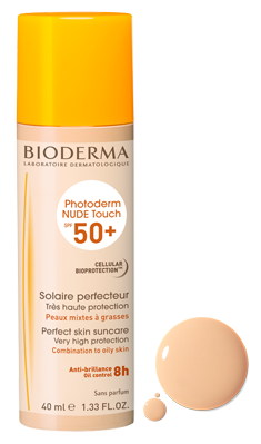 BIODERMA PHOTODERM NUDE TOUCH SPF 50  TEINTE NATURELLE 40ML