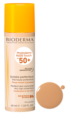 BIODERMA PHOTODERM NUDE TOUCH SPF 50  TEINTE DORÉ 40ML
