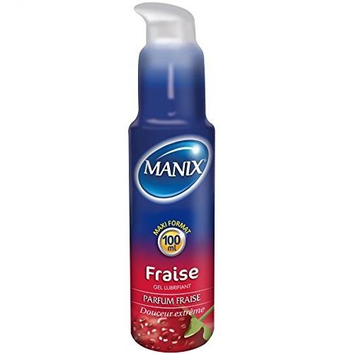 MANIX GEL LUBRIFIANT FRAISE 100 ML