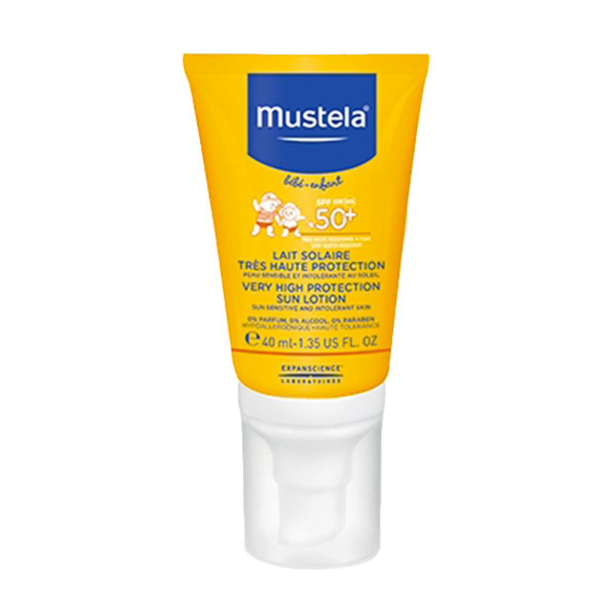 mustela Lait solaire très haute protection spécial visage - SPF50 40ml