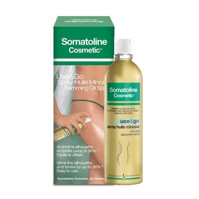 somatoline traitement spray huile minceur use & go 125ml