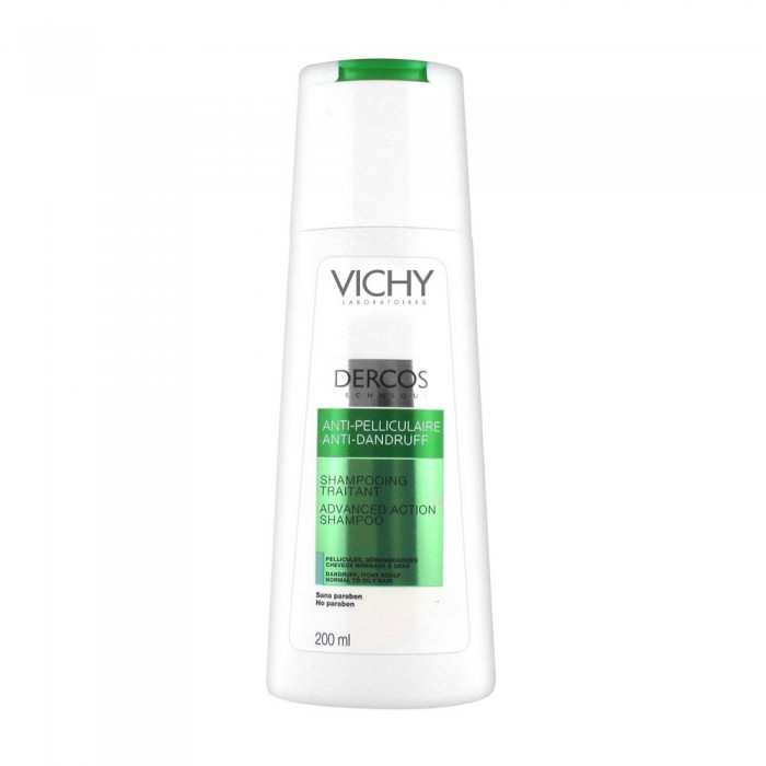 VICHY DERCOS SHAMPOOING TRAITANT ANTI-PELLICULAIRE 200ML CHEVEUX NORMAUX À GRAS