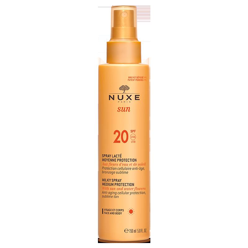 nuxe sun Spray lacté moyen protection spf20